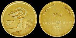 Gemini 7 Flown Fliteline Gold-Plated Sterling Silver Medallion.jpg