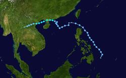 热带风暴海马的路径图
