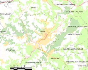 蒂勒市镇地图