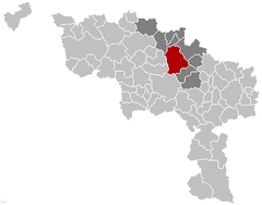 Soignies Hainaut Belgium Map.png