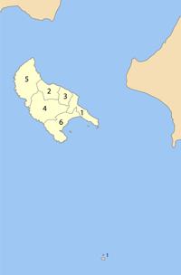 州内各市、镇的位置