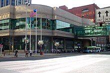 The STA bus plaza in Downtown Spokane