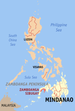 三宝颜锡布格省在菲律宾上的位置