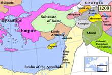 Map of Lesser Armenia and its surroundings in 1200