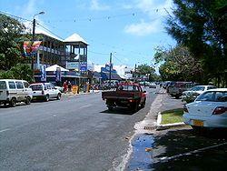Ara Maire Nui, the main street in Avarua