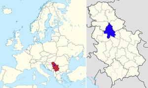 在欧洲和塞尔维亚的位置