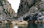 Verdouble creek beneath Arago-cave