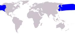 Cetacea range map Dall's Porpoise.PNG