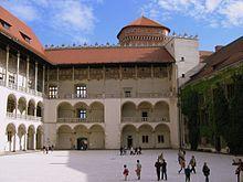 Arcade courtyard of the Wawel Castle