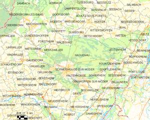 阿格诺市镇地图