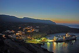 安迪基西拉岛的港口波塔莫斯