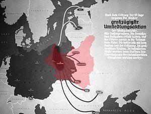 Die 'großzügigste Umsiedlungsaktion' with Poland superimposed, 1939.jpg