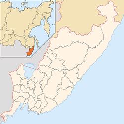 海参崴在滨海边疆区的位置