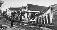 Earthquake damage in Valdivia