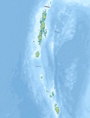 北森蒂纳尔岛在安达曼和尼科巴群岛的位置