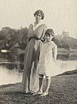 Photo of Mary MacCarthy with her son Michael in 1915. Taken by Lady Ottoline Morrell