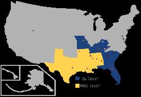 东南联盟 locations