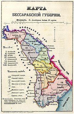 Bessarabia Governorate, 1883