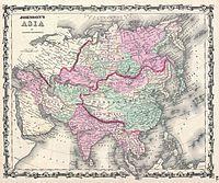 1861 Johnson Map of Asia - Geographicus - Asia-johnson-1861.jpg