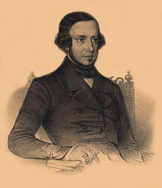 A lithograph of Garrett, by Pedro Augusto Guglielmi