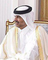 Steven Mnuchin and Qatari PM Sheikh Khalid Feb 2020 (cropped).jpg