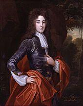 An oil painting of a man in eighteenth century dress
