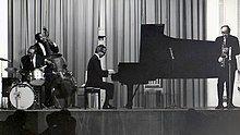 The Dave Brubeck Quartet in 1967; left to right: Joe Morello, Eugene Wright, Dave Brubeck and Paul Desmond