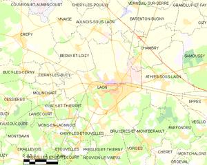 拉昂市镇地图