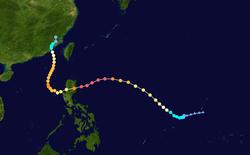 超强台风鲇鱼的路径图