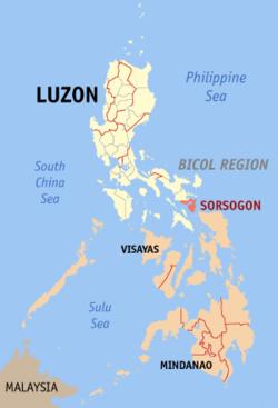 索索贡省在菲律宾上的位置