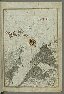 Piri Reis - Map of the City of Constantinople - Walters W658370B - Full Page.jpg