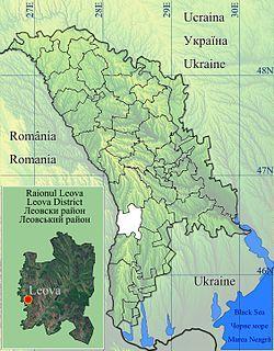 Location of Leova District
