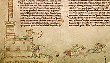 Medieval drawing of the Battle of Lincoln