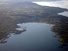 Areal view of Saanich, British Columbia