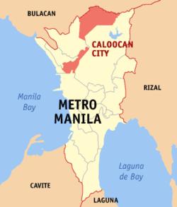 加洛坎市于马尼拉大都会位置图
