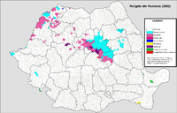 Main religions in the localities (2002)