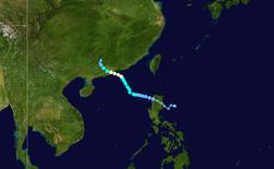 强热带风暴約克的路径图