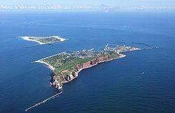 今日的黑尔戈兰岛和多恩岛。