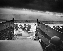 Landing at the Battle of Normandy