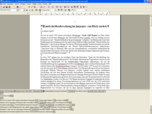Wordperfect 11于2003年 运作于Pentium 233MMX电脑