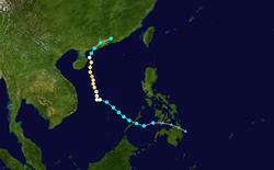 台风浣熊的路径图