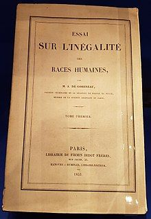 Photograph of the cover of the original edition of An Essay on the Inequality of the Human Races