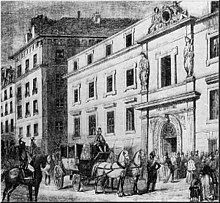 Exterior of 19th-century French city building