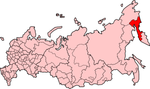 Map showing Koryakia in Russia