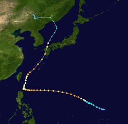 超强台风天鹅的路径图