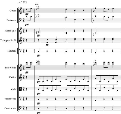 Haydn, Symphony 97, third movement, bars 109-117.png