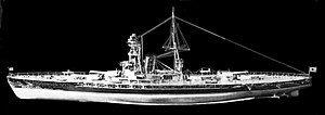 Model of battleship Kaga port view - cleaned up.jpg