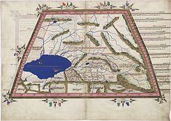 Ptolemy Cosmographia 1467 - Caspian Sea Central Asia.jpg