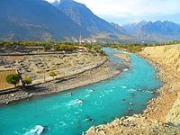 River Gilgit and the Gilgit City.jpg