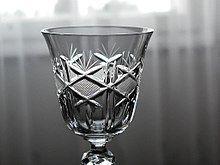 A crystal glass